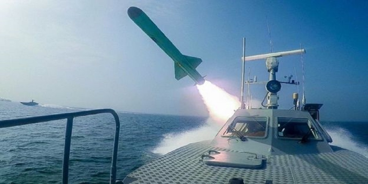 Iran blasts dummy US aircraft carrier with missiles