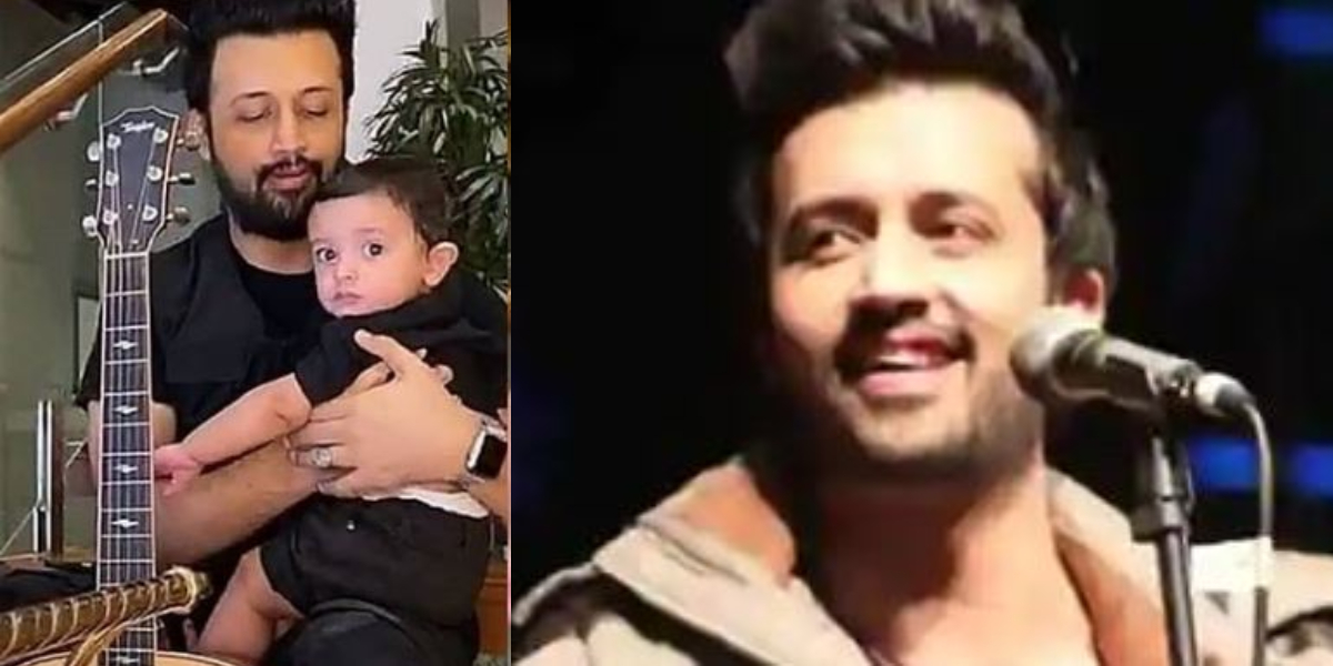 Atif Aslam with his son