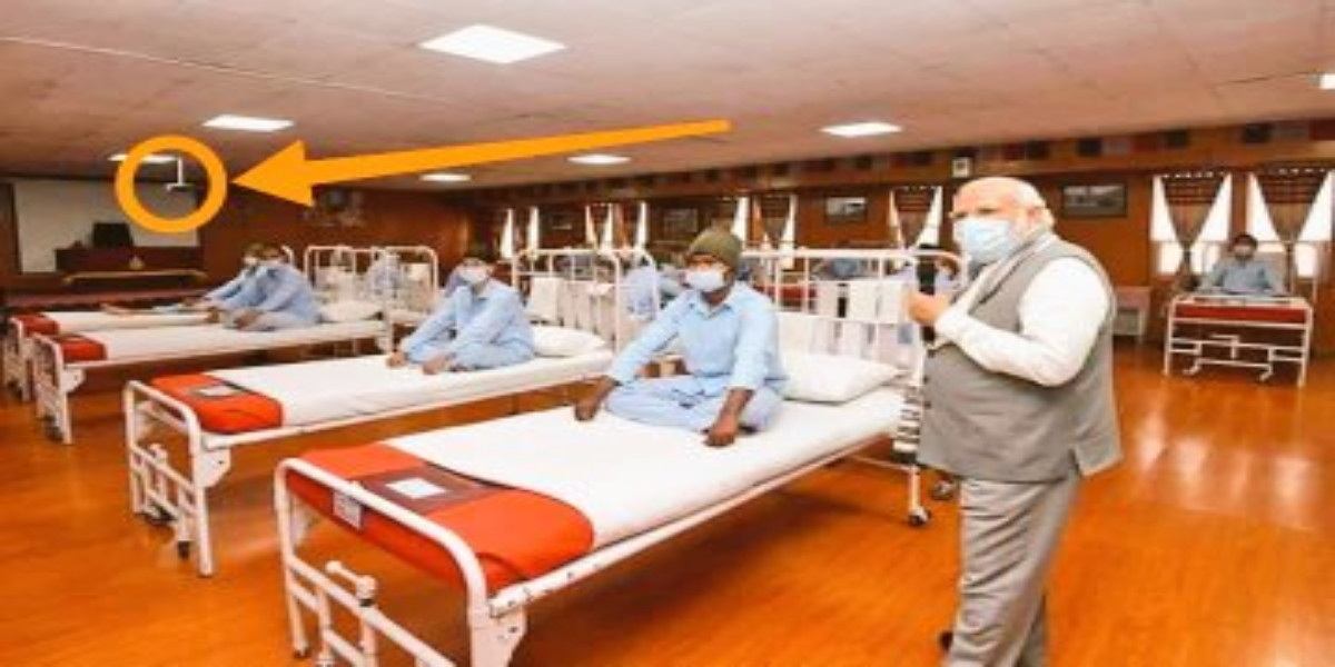 Indian Army converts conference hall to hospital