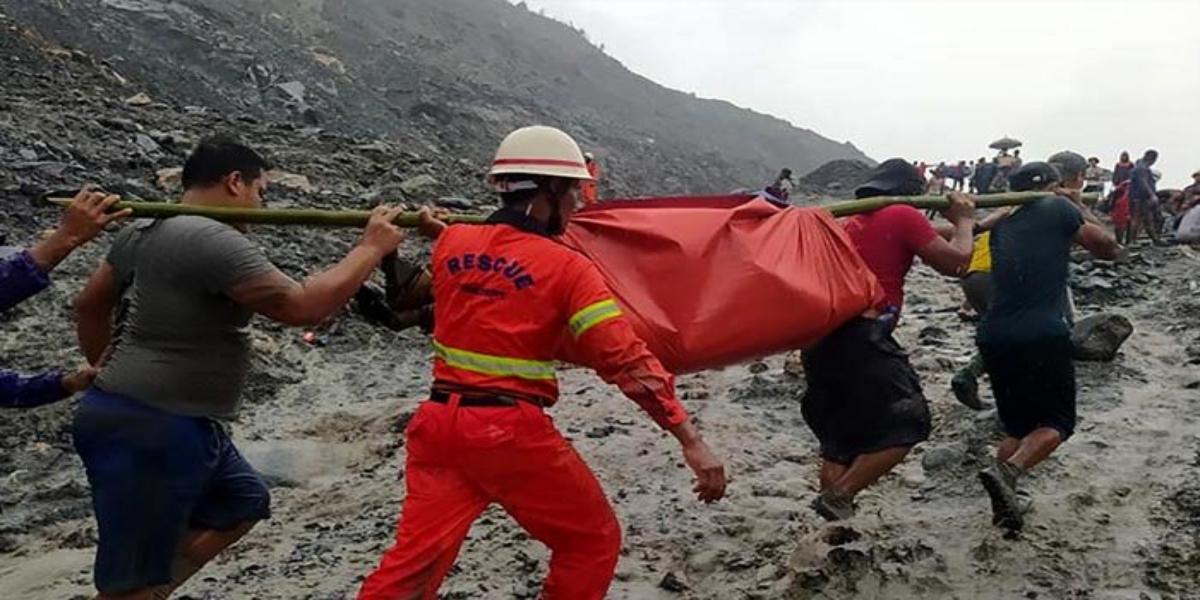 Myanmar: Landslide kills more than 100, dozens missing