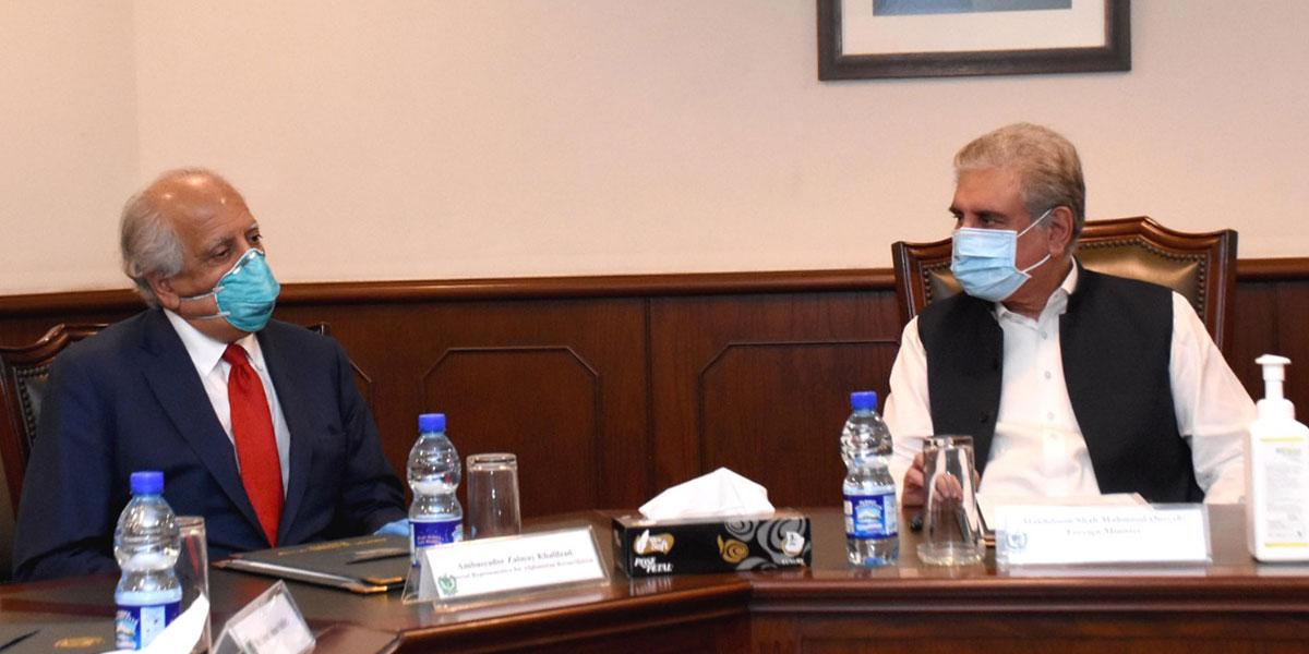 FM Shah Mahmood Qureshi calls on US envoy Zalmay Khalilzad