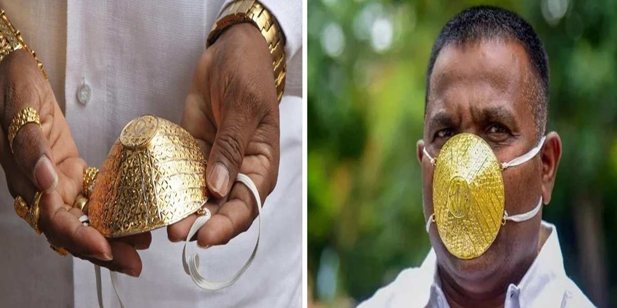 Man dons face mask made of Gold to fend off Coronavirus