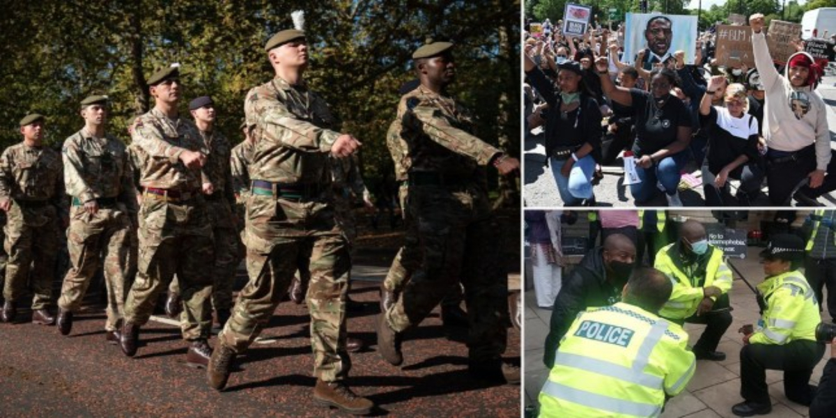 UK military banned from taking the Knee in solidarity with Black Lives Matter