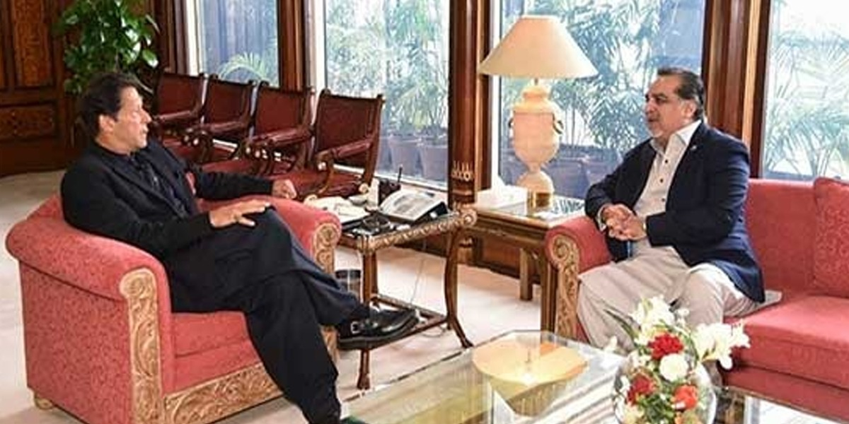 PM Imran Khan calls on Governor Sindh Imran Ismail