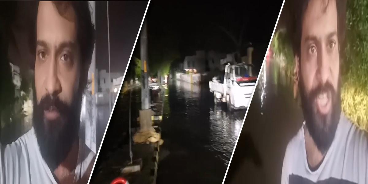 Waqar Zaka puts efforts to wipe out stagnant rainwater