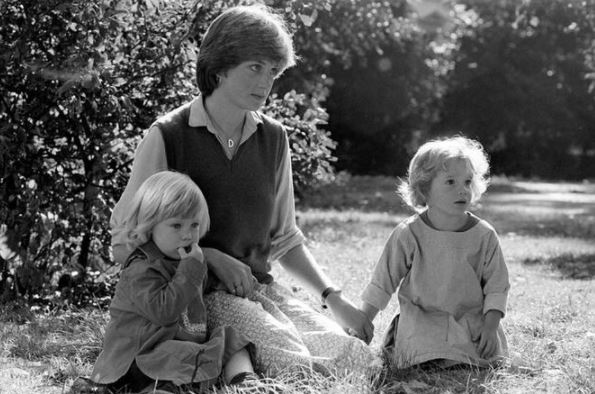 Princess Diana with sons