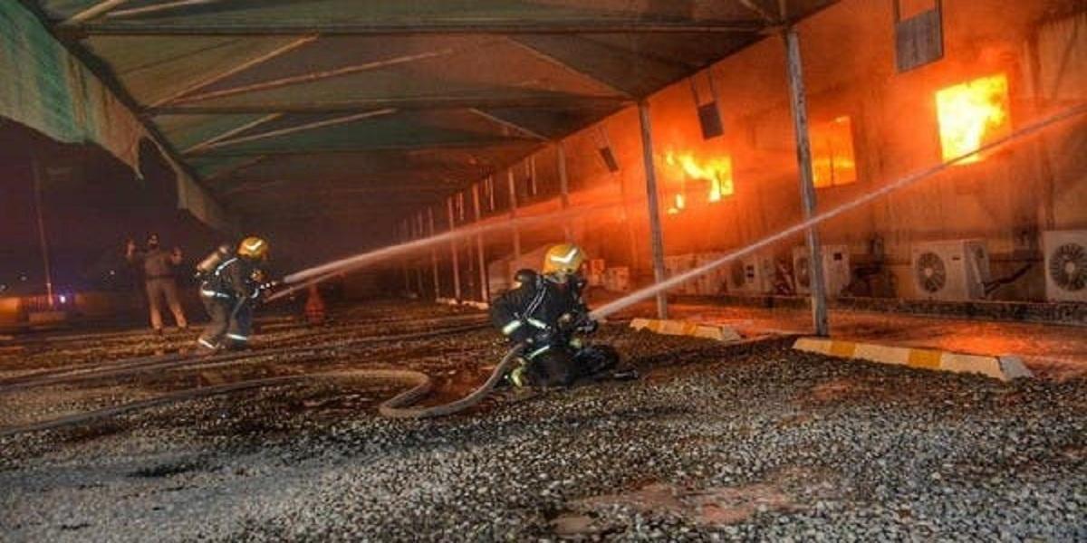 Saudi firefighters bring fire near Jeddah train station under control