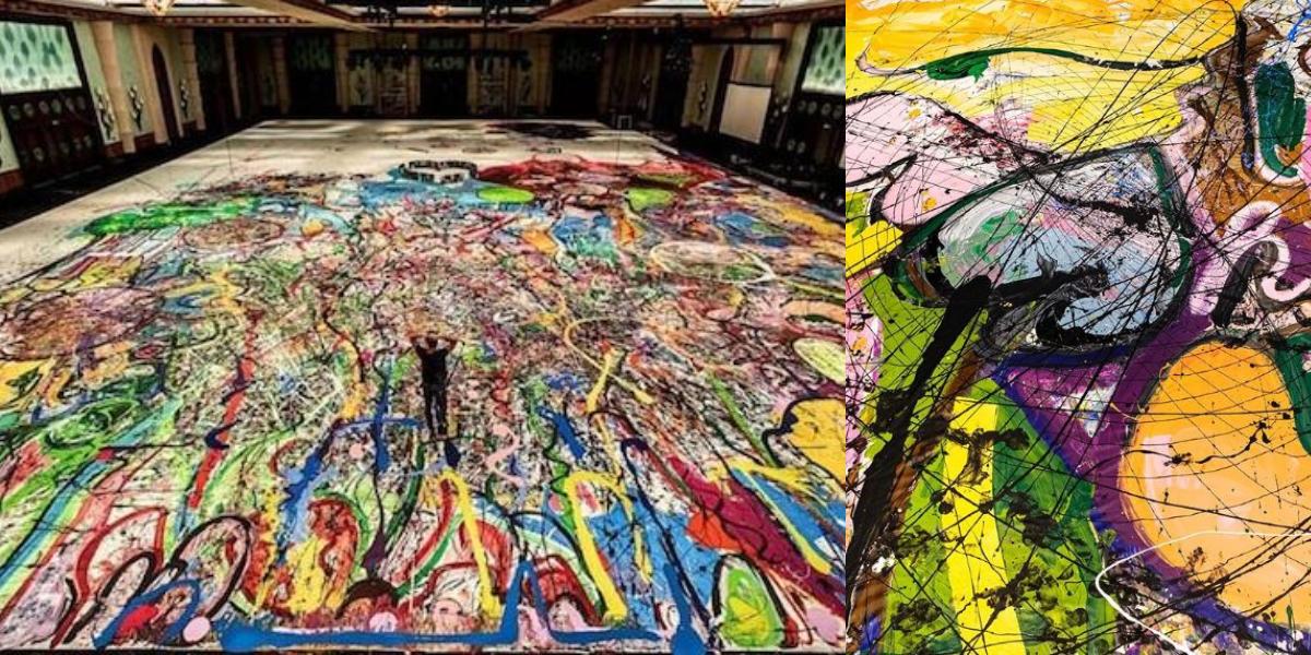 British artist largest painting