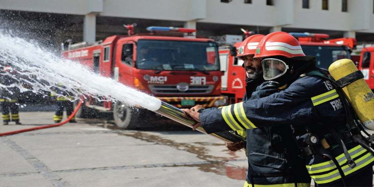 Fire godown Lyari