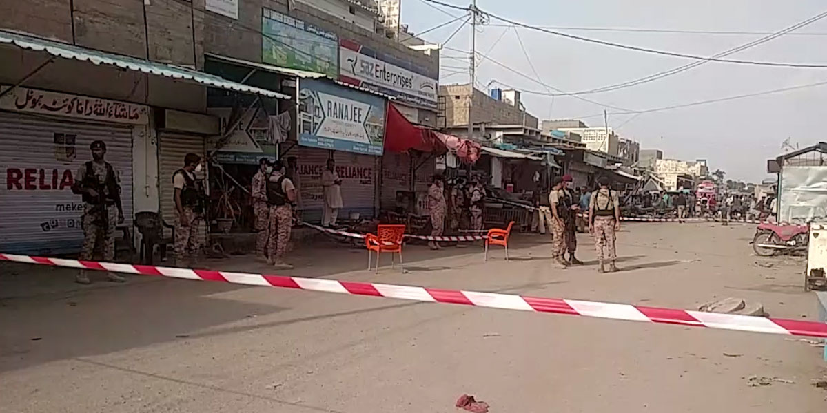 3 people injured in a Cracker attack in Karachi
