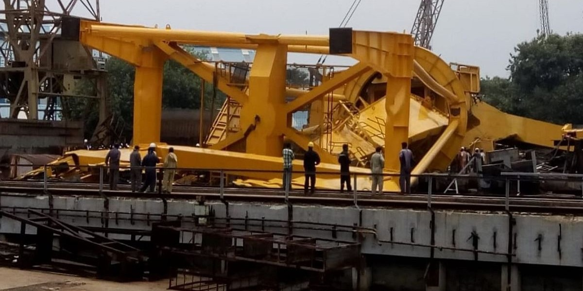 India: 11 killed as 70-tonne Crane collapses at Shipyard in Visakhapatnam