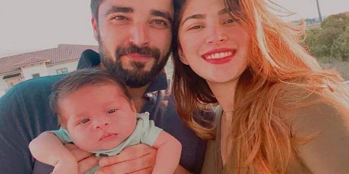 Hamza Ali Abbasi, Naimal Khawar celebrate first wedding anniversary with son