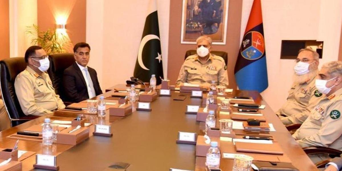 COAS General Qamar Javed visits ISI headquarters