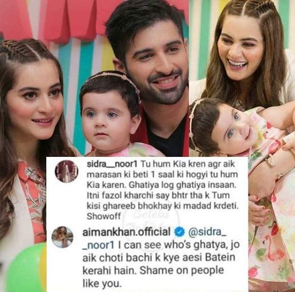 Aiman Khan claps back at haters
