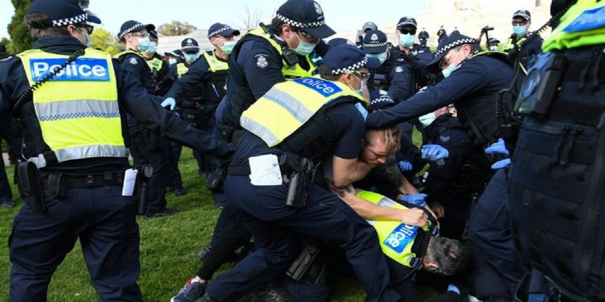 Coronavirus: Arrests as hundreds gather for anti-lockdown protests in Australia