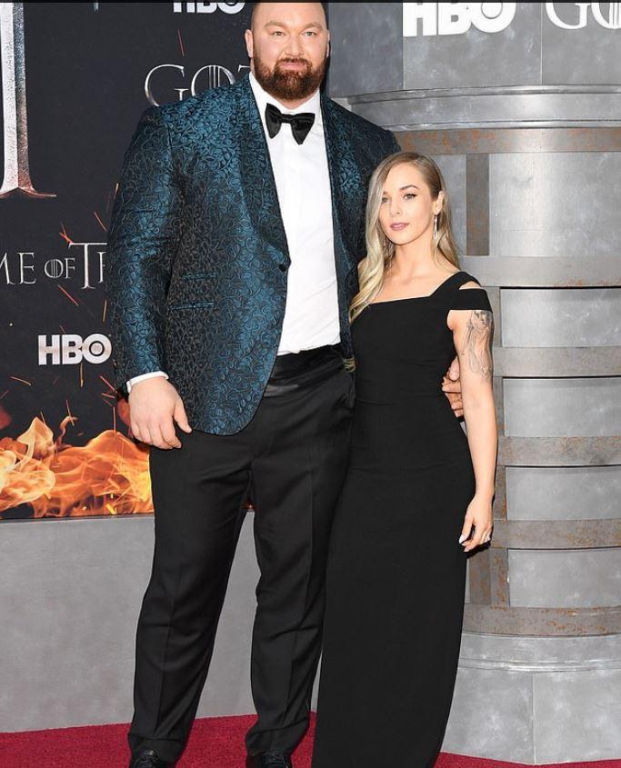 Hafthor Julius Bjornsson and his wife Kelsey Henson