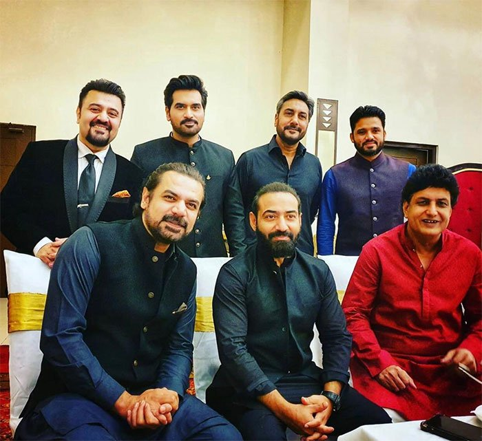 Humayyun Saeed with other stars