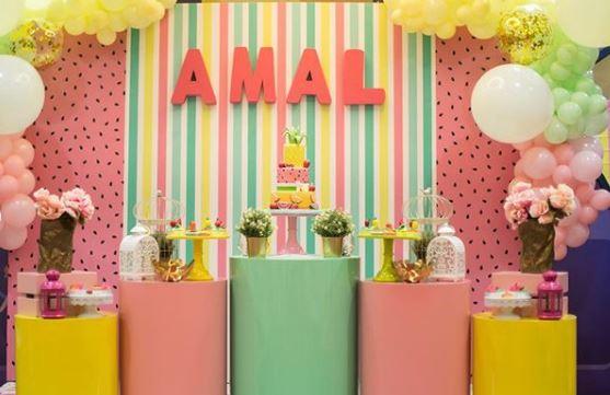 Amal Muneeb first birthday