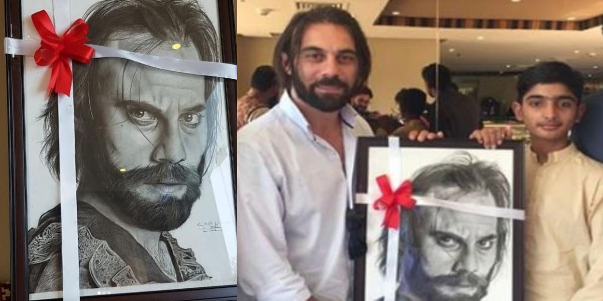 Cavit Çetin portrait by fan