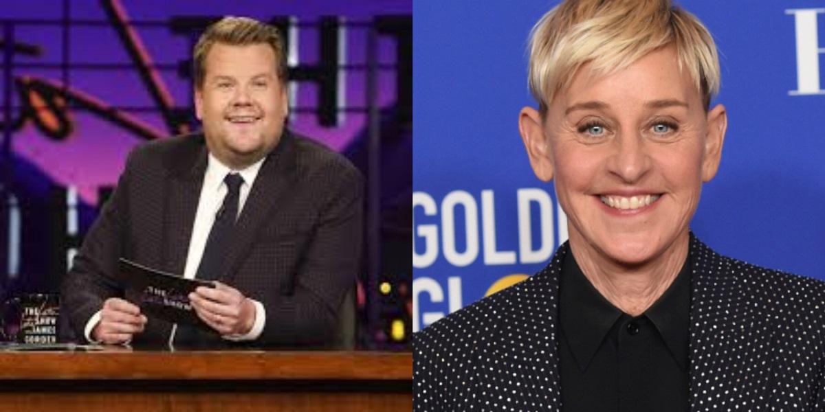 James Corden Ellen DeGeneres