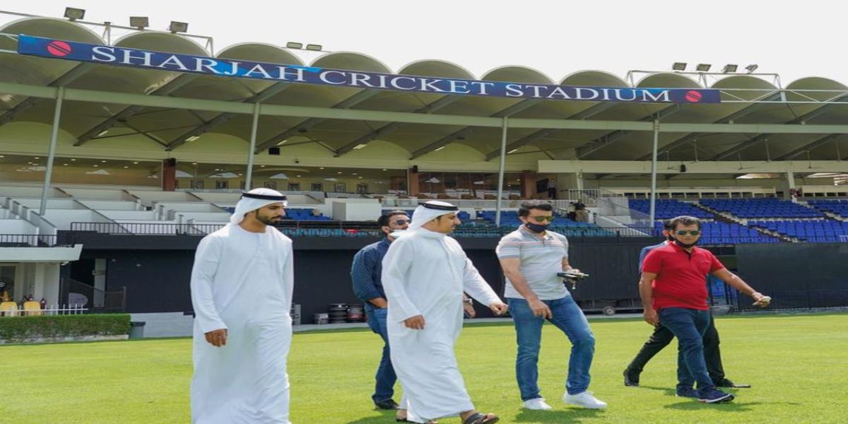 IPL in UAE: Saurav Ganguly visited Sharjah Cricket Stadium