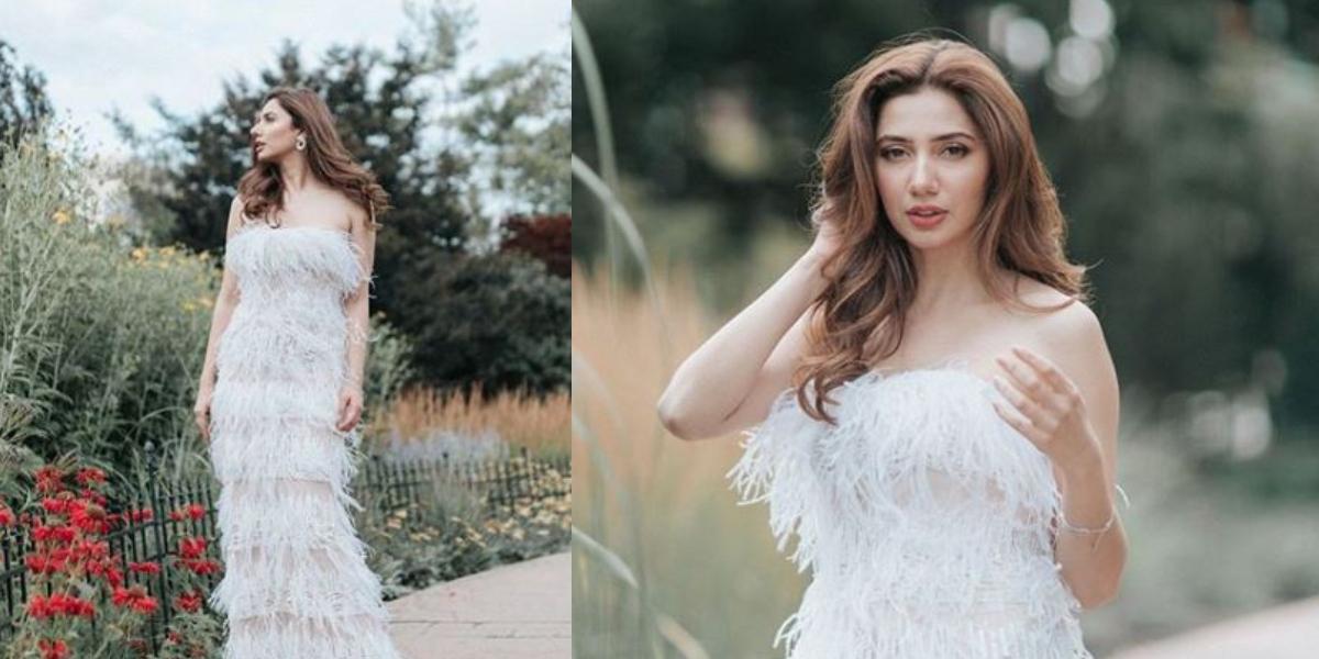 Mahira strapless gown