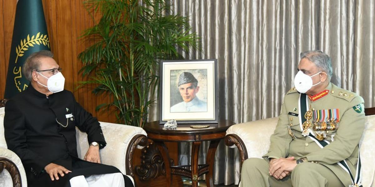 COAS General Qamar Javed Bajwa meets President Alvi