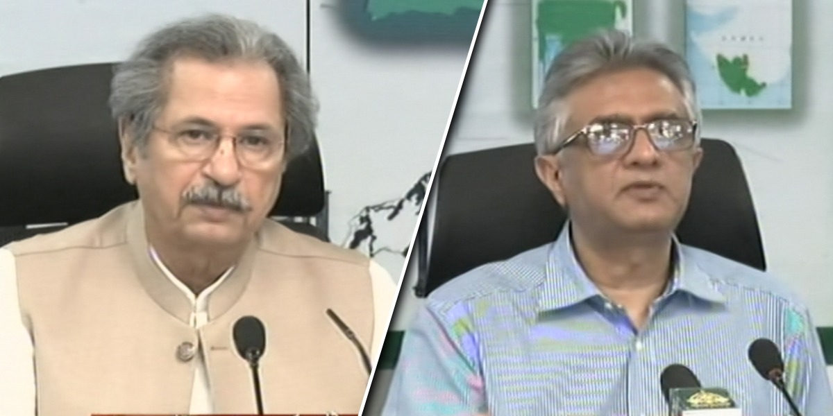 Shafqat Mahmood and Dr. Faisal