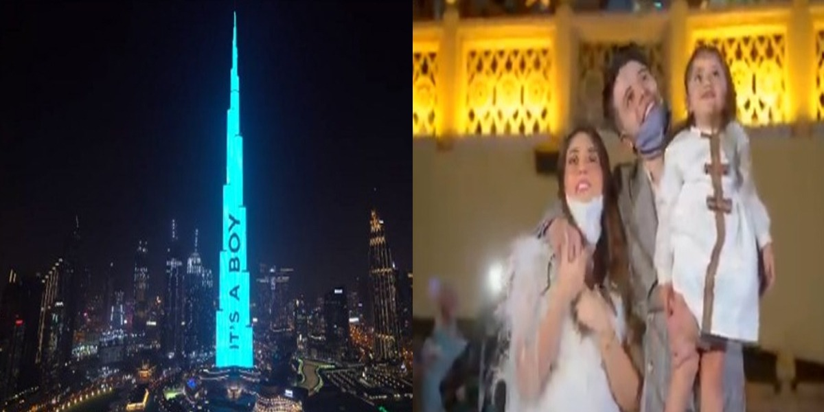 'It's A Boy' YouTubers tell Fans With Light Display On Burj Khalifa