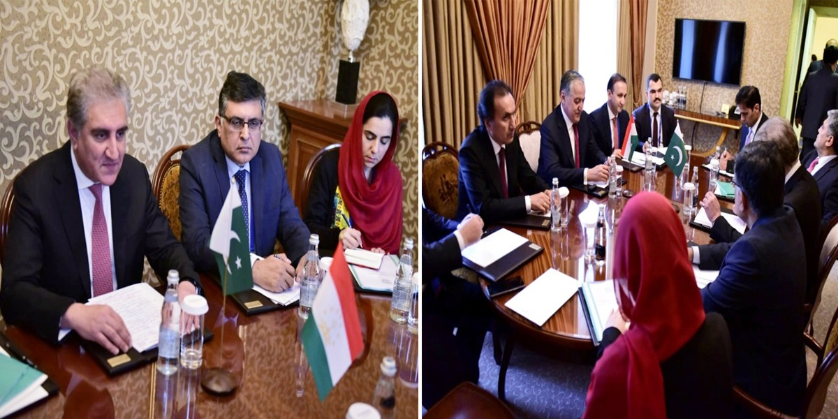 FM Qureshi calls on his Tajik counterpart on sidelines of SCO