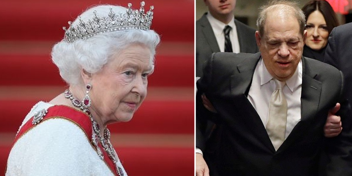 Queen Elizabeth cancels honorary CBE Conferred upon Harvey Weinstein