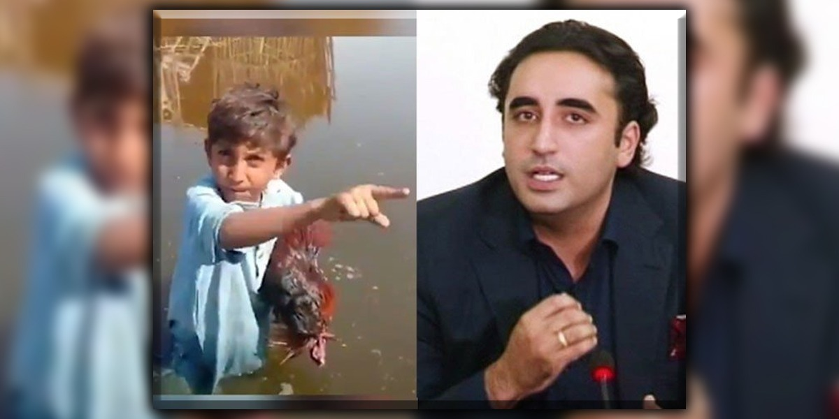 Child Lashes out at Bilawal, whose Rooster died after drinking contaminated water