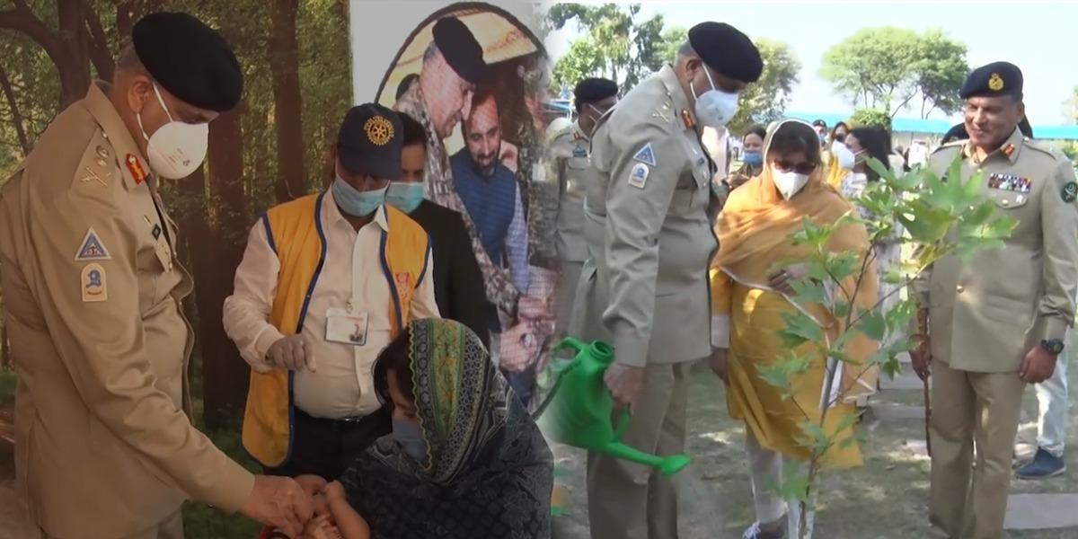 COAS Attends National Polio & Tree Plantation Campaign