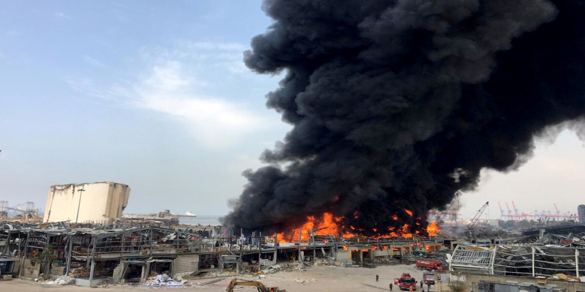 Large fire erupts in Beirut's port area, month after massive explosion