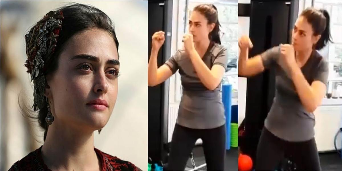 Esra Bilgic's boxing video goes viral on social media