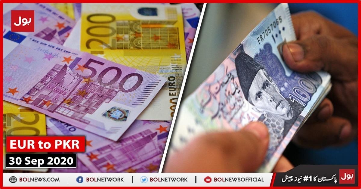 EUR TO PKR 30th September 2020