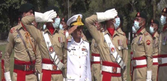 Admiral Amjad Khan Niazi at GHQ