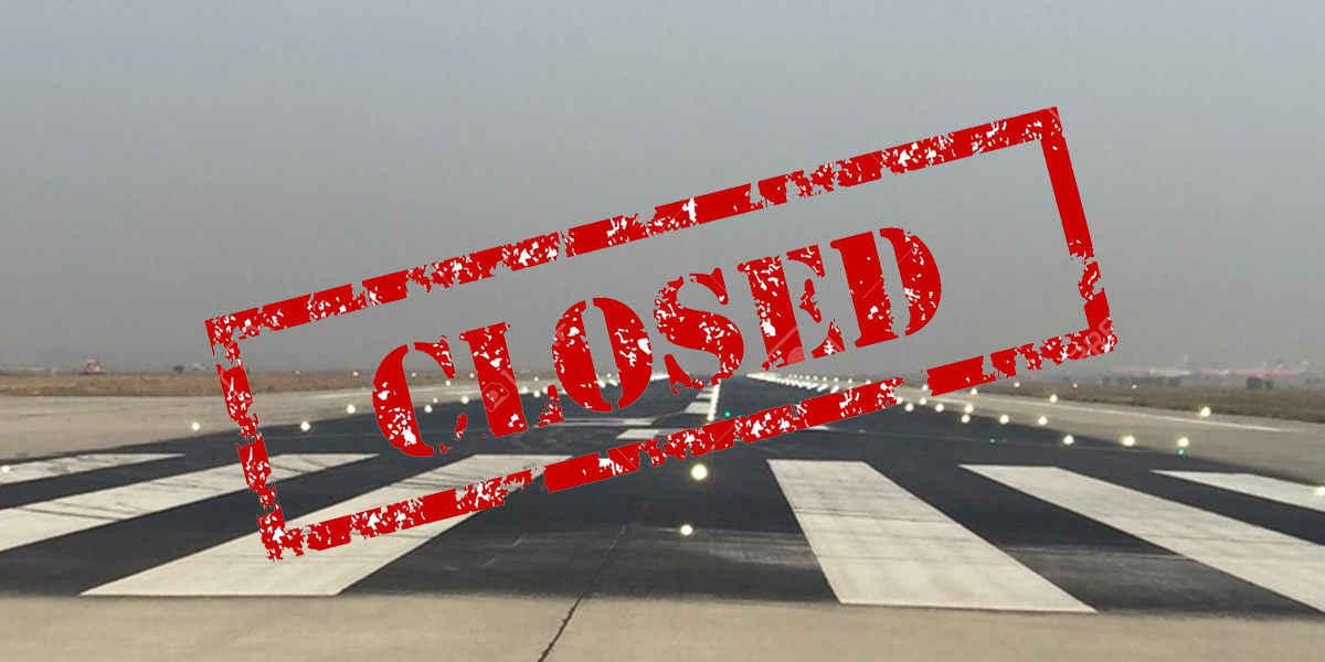 Karachi airport runway