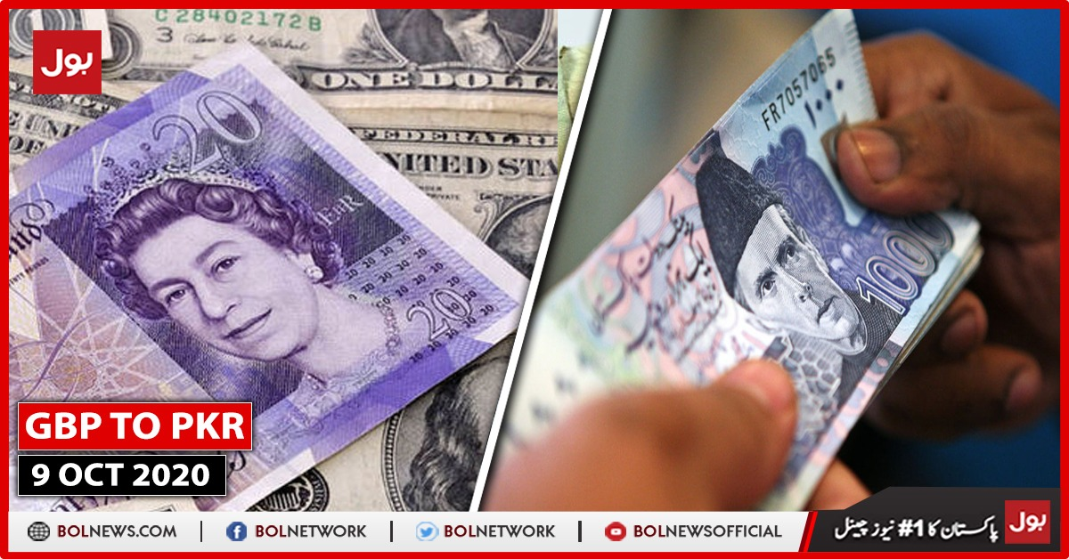 GBP TO PKR, 9 October 2020