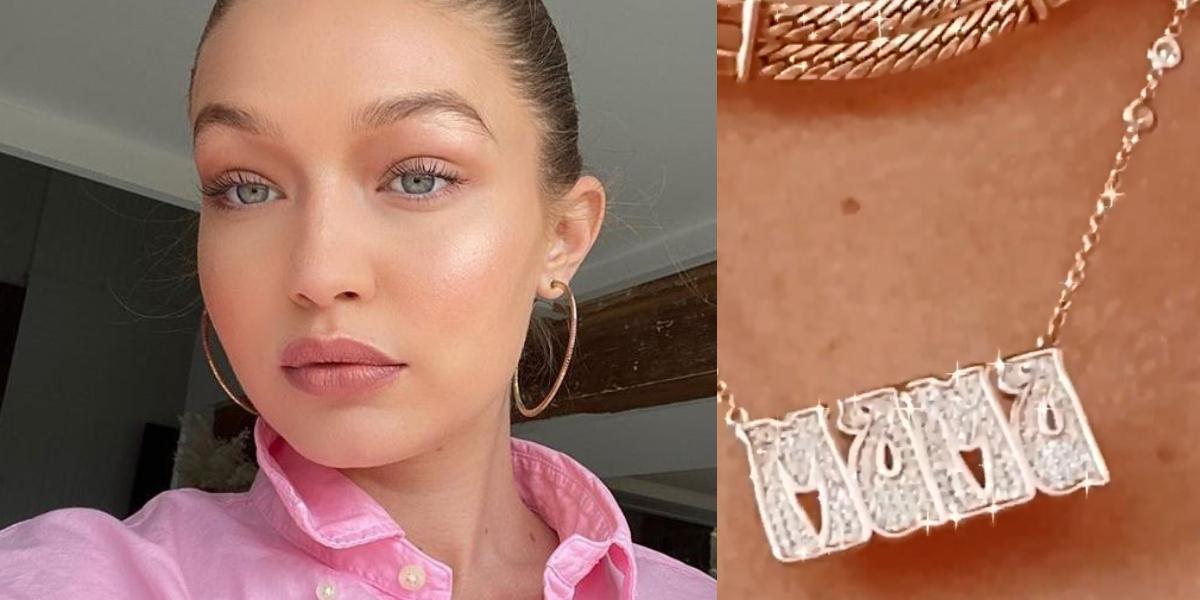 Gigi Hadid Mama necklace