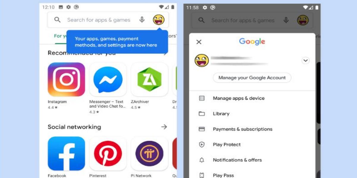 Google Play Store Hamburger icon