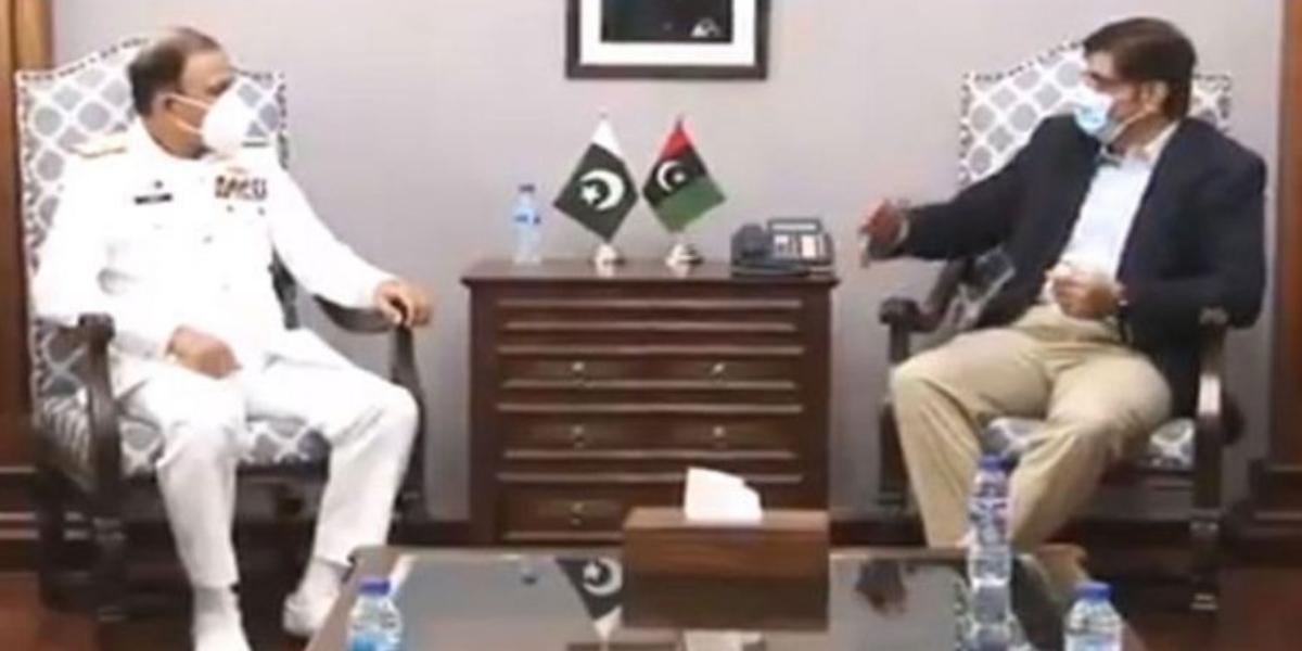 CM Sindh Murad Ali Shah meets Naval Chief