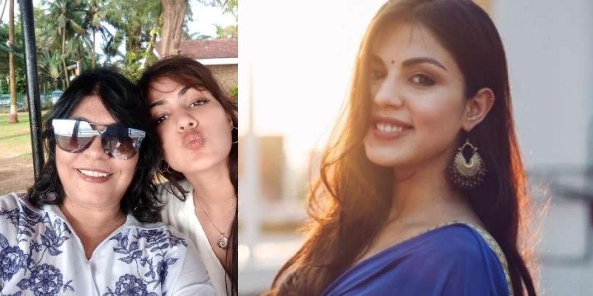 Rhea Chakraborty at home