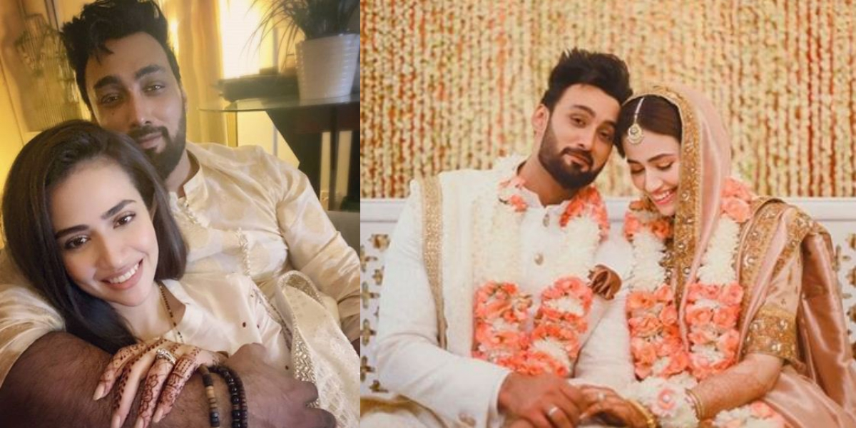 Umair Jaswal Sana Javed newly-weds