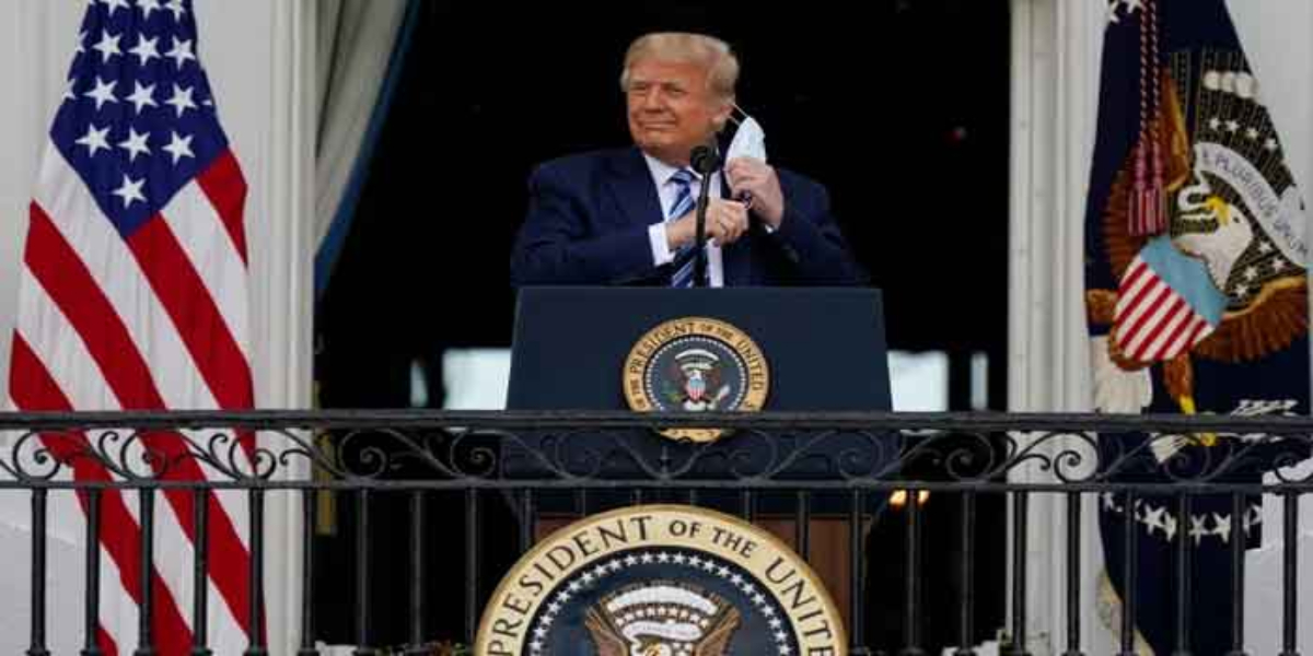 Trump first appearance since covid