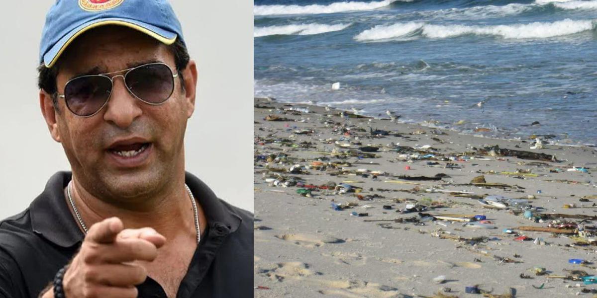 Wasim Akram Karachi beach