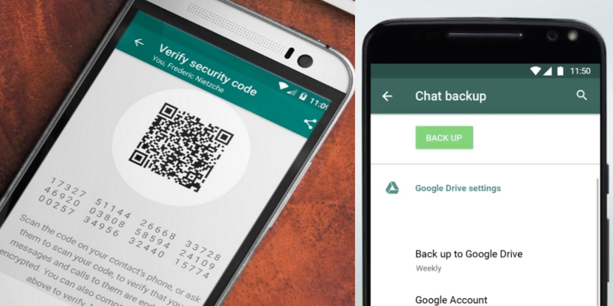 WhatsApp private chats