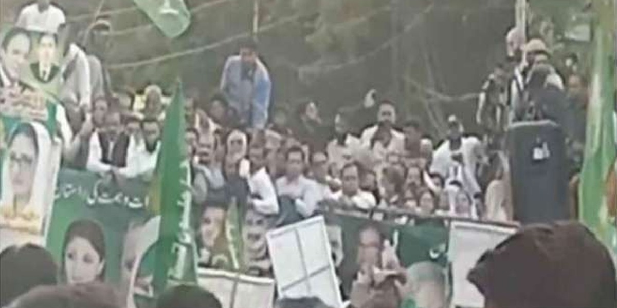 PML-N's Protest: Stage Collapses During Saad Rafique's Speech