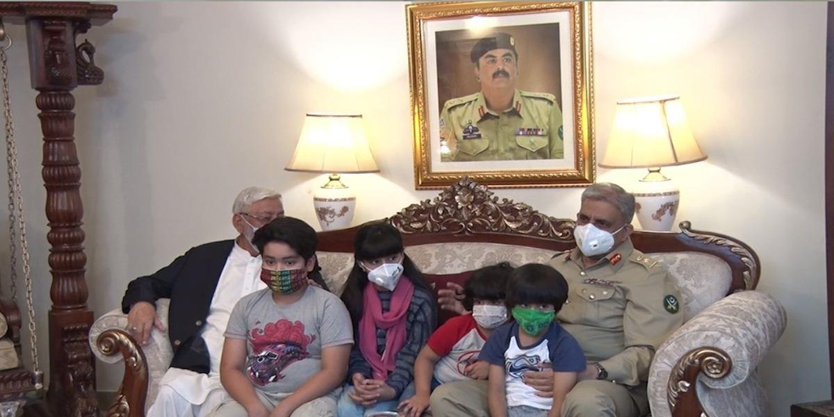 COAS And Begum COAS visit family of Colonel Mujeeb Ur Rehman (Shaheed)