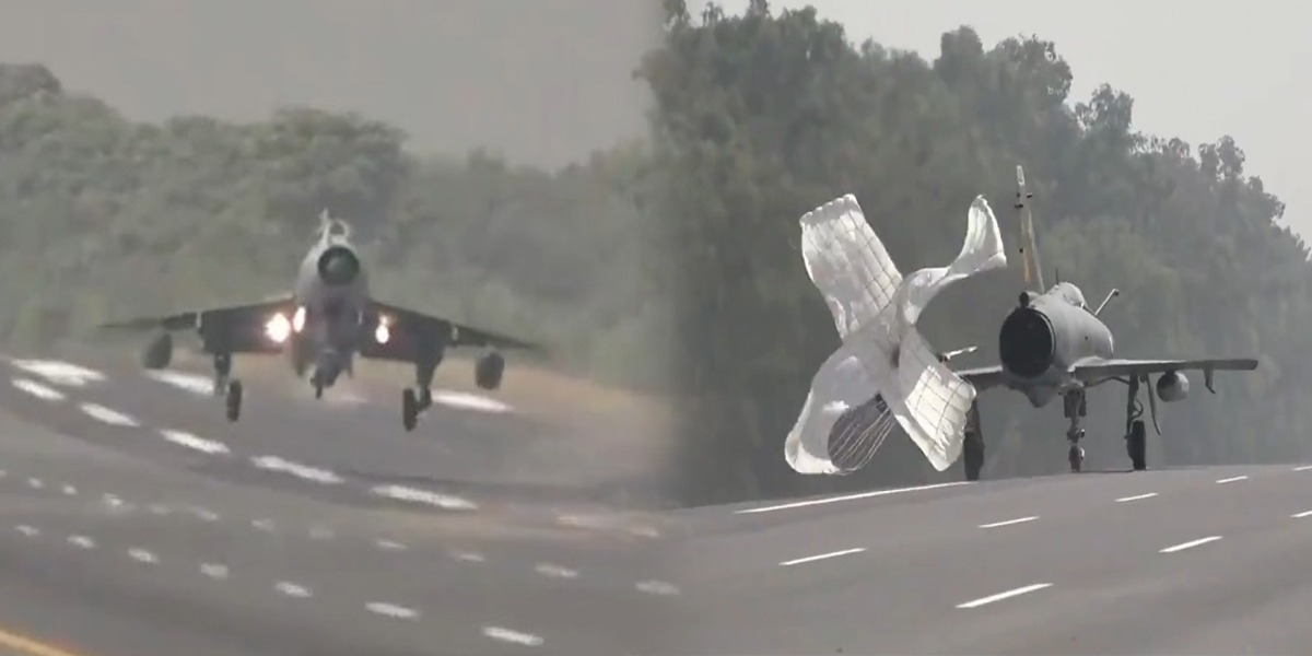 Pakistan Air Force Conducts Exercises On Islamabad-Lahore Motorway
